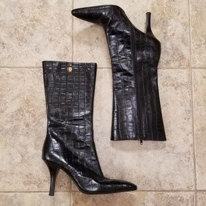 Mercer & Madison Leather Good Cond. Black Boots
